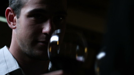 HD1080p: Young man wine tasting