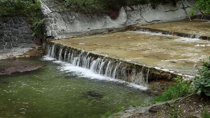 Shot of artificial river rapids
