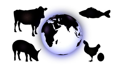Microbes from animals infecting earth