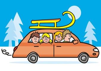 car, winter vacation