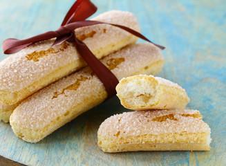 traditional Italian biscuit cookies savoryadi (for tiramisu)