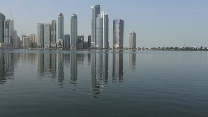city view of Sharjah city United Arab Emirates UAE
