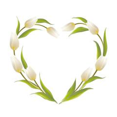 Tulip heart frame.