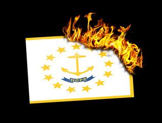 Flag burning - Rhode Island