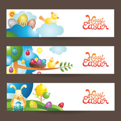 Easter Background and Banner