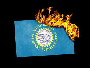 Flag burning - South Dakota