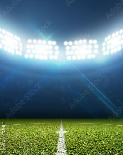 Leinwanddruck Bild Stadium And Soccer Pitch