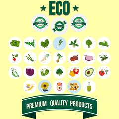 Vegetables with Premium Labels