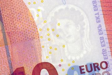 10 Euro-Schein mit Wasserzeichen
