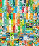 Mega collection of flat web infographic concepts - 77594369