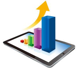 digital tablet graph Vector