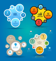 infographic elements with icons set, web layout, presentations.