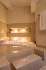 Cozy bathroom in residence