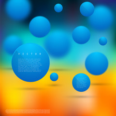 Vector Abstract geometric shape from circles.