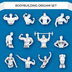 Bodybuilding Polygonal White