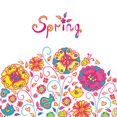 Figure spring flowers