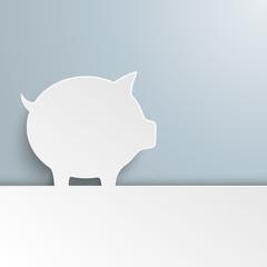 White Paper Piggy Bank Cover