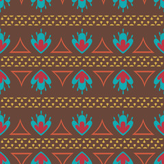 Retro oriental seamless pattern vector background