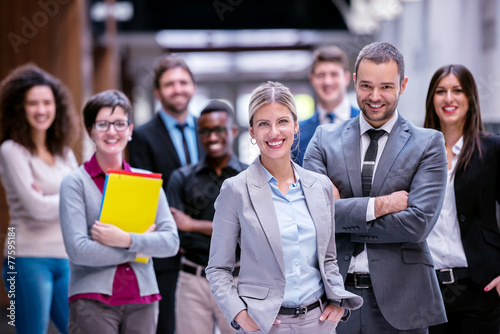 Leinwanddruck Bild business poeple group