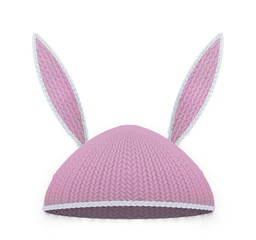 Red easter rabbit hat with ears