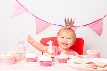 little princess at first birthday party