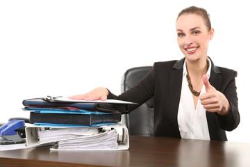 Sekretärin im Büro