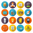 Electricity Icon Flat - 77596149