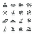 Mining Icons Black - 77596158