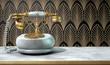 Marble Telephone And Art Deco Scene - 77596172