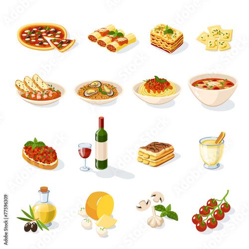 Italian Food Set - 77596309
