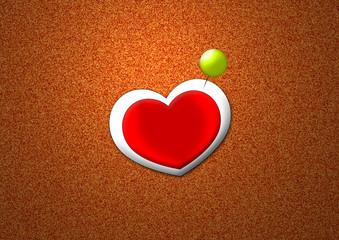 Pinnwand mit Herz - Corkboard