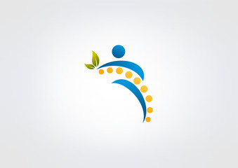 chiropractic logo symbol design
