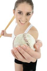 Teen spielt Baseball