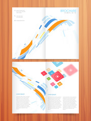 Professional two page business brochure or template design.