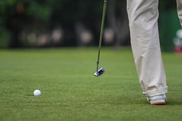 golf tee putting
