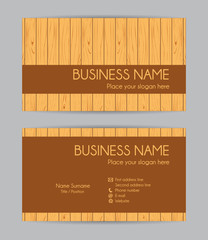 Business card. Flat design. Front and back set IV.