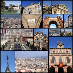 Barcelona collage