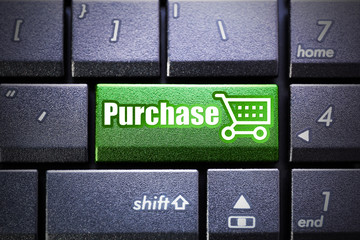 Purchase button on the computer keyboard