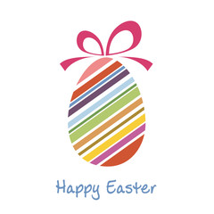 Vector vintage easter egg with strips