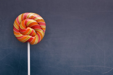 Birthday background with candy lollipop