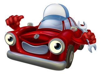 Cartoon car mechanic mascot