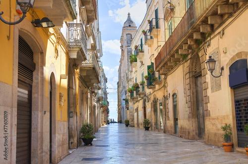 Leinwandbild Motiv Alleyway. Altamura. Puglia. Italy.
