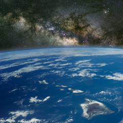 Hawaii under the Milky Way.