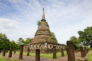 Sukhothai historical park, the old town of Thailand in 800 year
