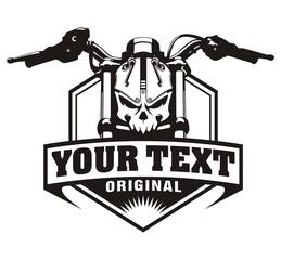 motorcycle skull vintage