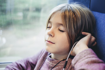 Boy listening to music