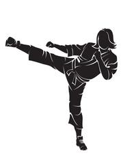 Woman karate fighter