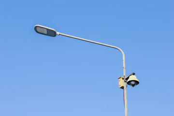 LED street light bulb and CCTV Camera