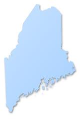 Carte de l'état du Maine - Etats-Unis