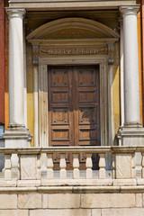 door   in italy  lombardy   column  the terrace